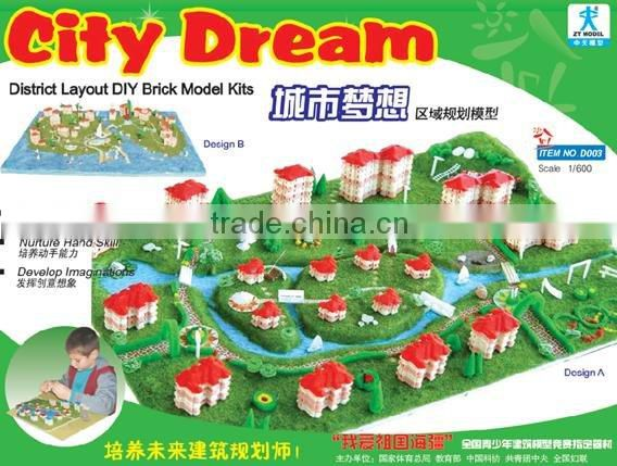 District Model Toy Kits building model