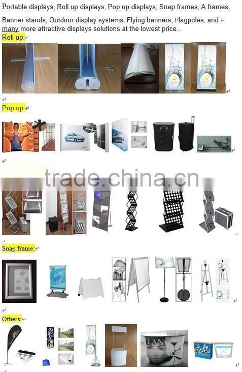 Manufacturer portable trade show wall,tension fabric display stand