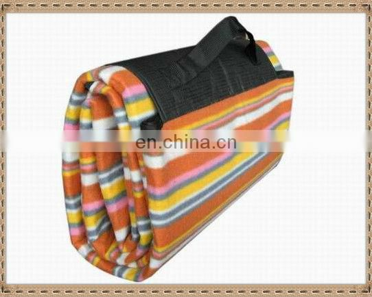 100% polyester polar fleece printed picnic blanket