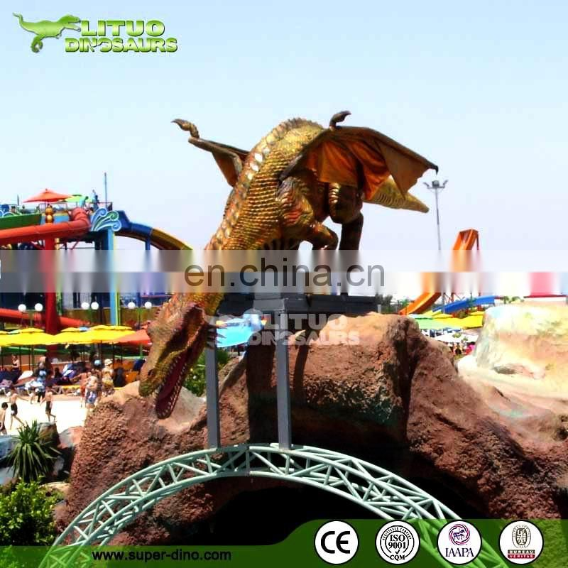 Amusement Park Animated Dragon Model
