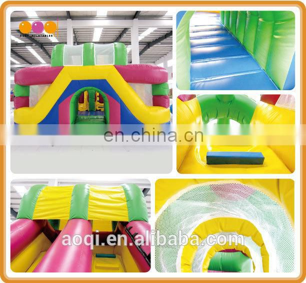 AOQI inflatable fun city games kids castle inflatable baby jumper with slide
