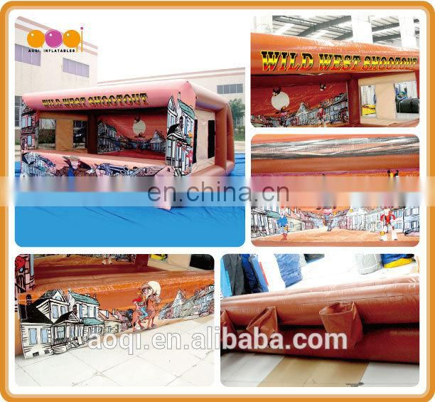 AOQI commercial use inflatable wild west shootout game for sale