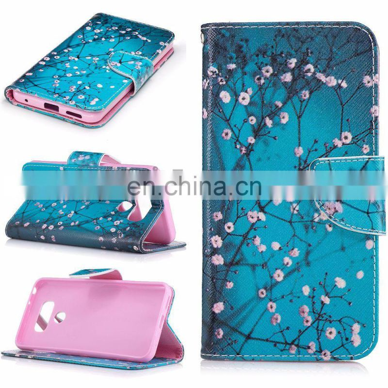Wallet Style with Cards Slot & Magnetic Buckle PU Full Cover Case for LG G6
