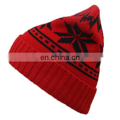 Wholesale high Quality acrylic Custom winter Knitted Hat