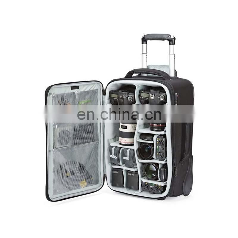 roller digital slr camera trolley bag case with wheels