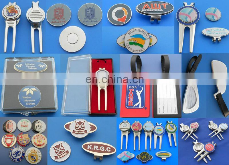 Soft Enamel logo golf divot tool with magnetic ball marker 2018 Design