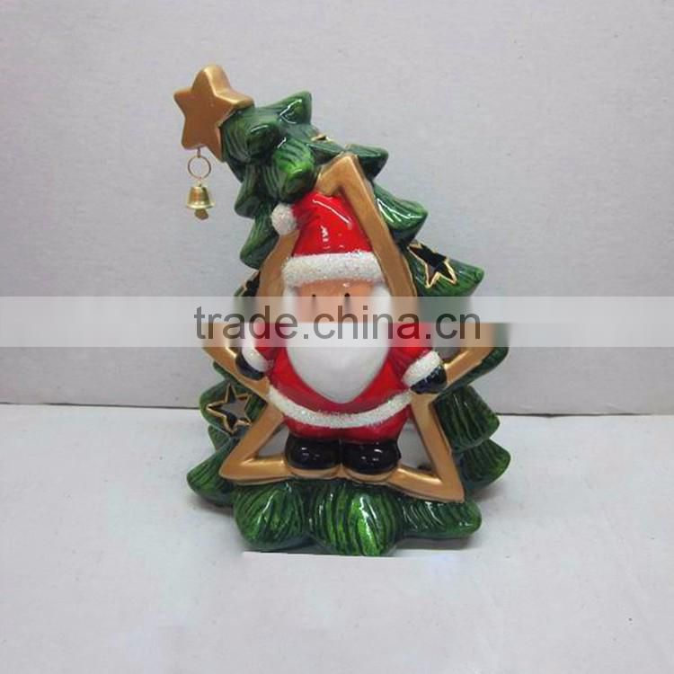Custom christmas artificial resin pine cone tealight candle holder