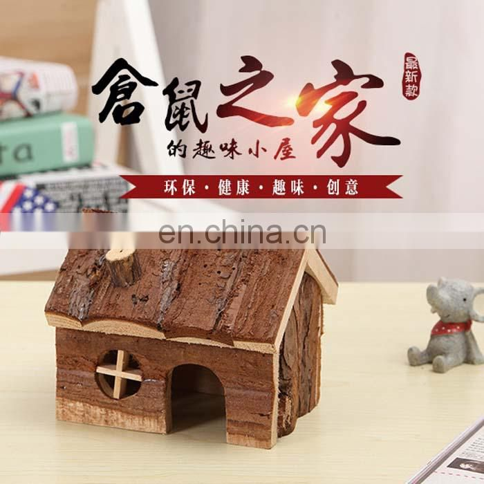 New Hamster wooden house accessories wooden house room hamster cage accessories