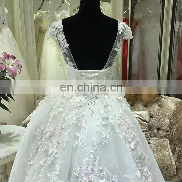 2017 new arrival blush pink wedding dress bridal gown ball