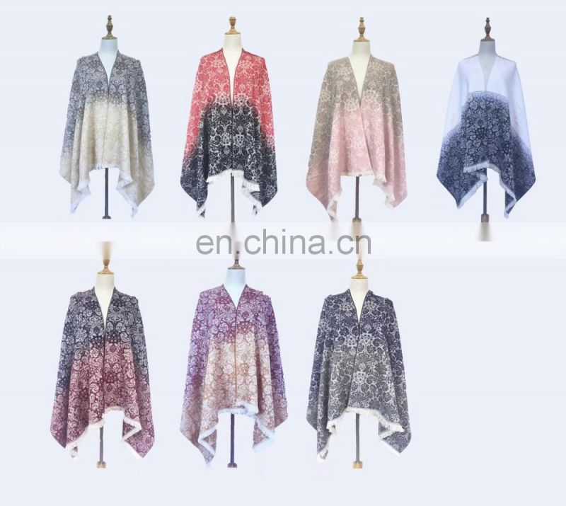 High quality winter ladies flower scarf of winter scarf women
