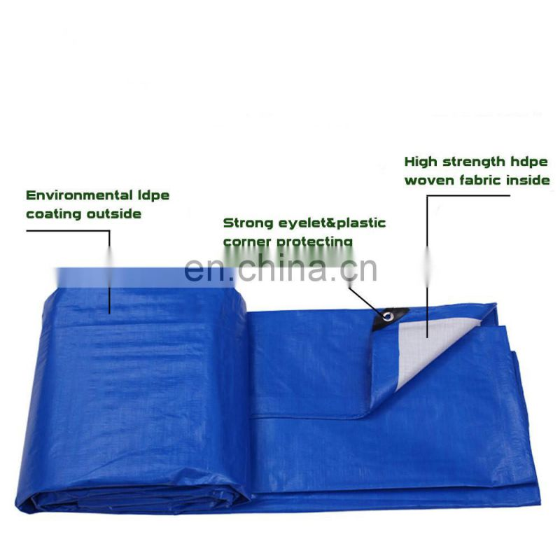 Green color PE Coated Pattern and Other Fabric Product Type tarpaulin
