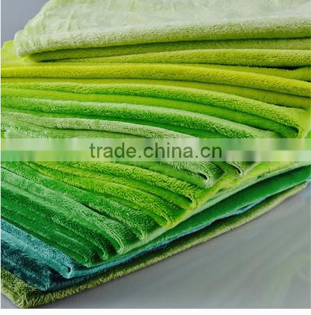 fabric for kid toy /Super soft high quality stock fabric 100 polyester fleece fabric plain green fleece velvet