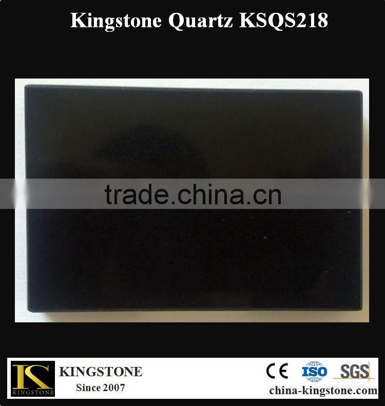 Artificial Absolute Black Quartz Stone for Counter top