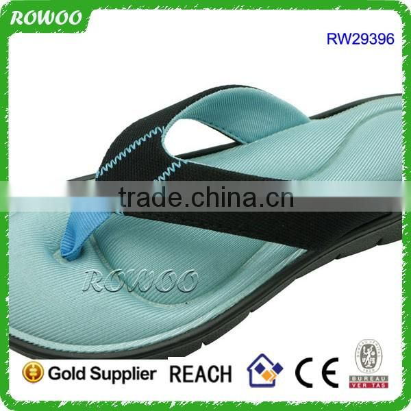 Lady Sandal Good Quality Memory Foam Beach Flip Flops EVA Sole Slipper