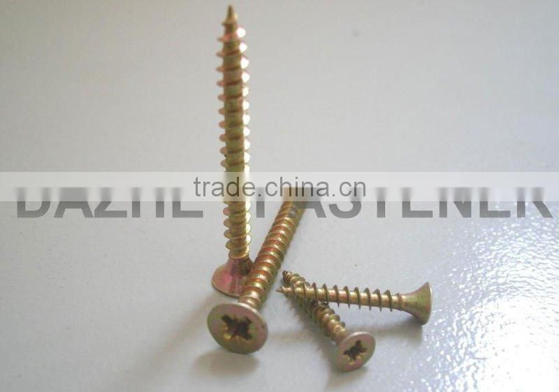 Yellow or blue zinc plated phillips or pozi countersunk chipboard screws