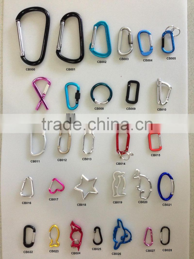 round shaped aluminum carabiner for outdoor tool