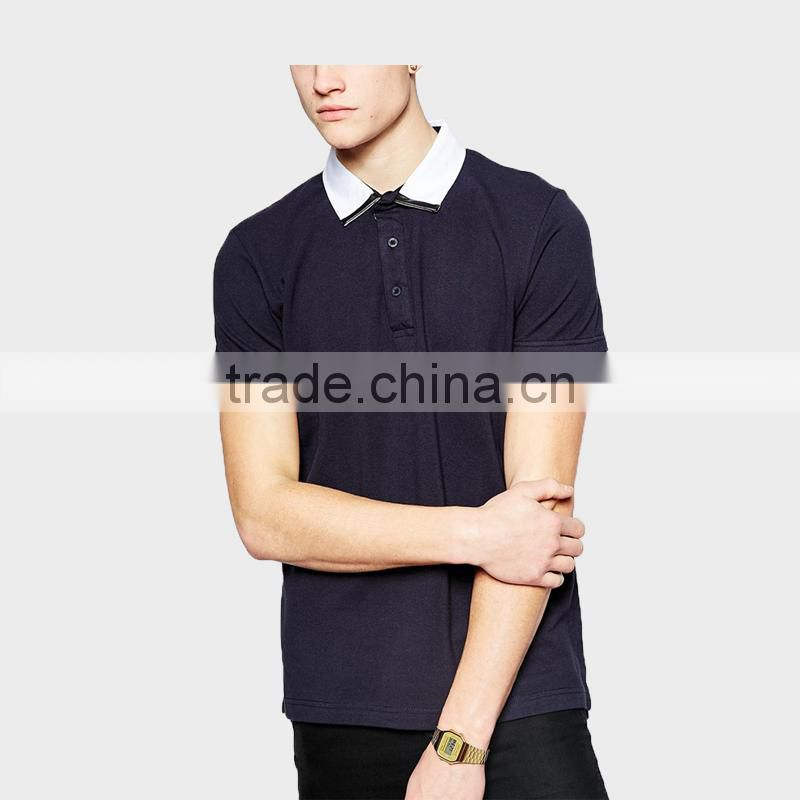 2015 china supplier Summer Men's Black Polo Shirt