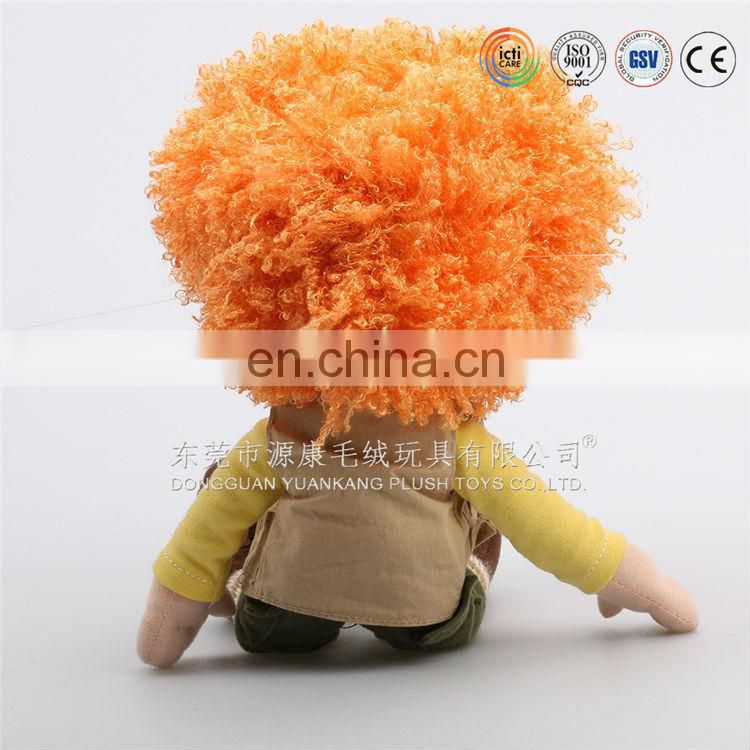 3d face plush doll,3d face with plush toy