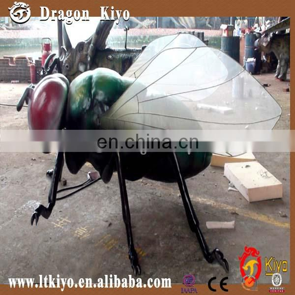 silicone rubber animatronic insects model display shipping from China