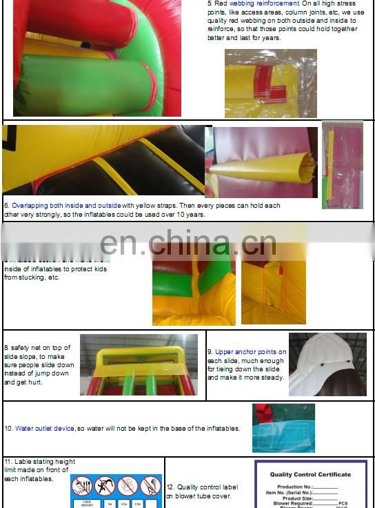 best quality commercial grade new design inflatable circus slide for sale