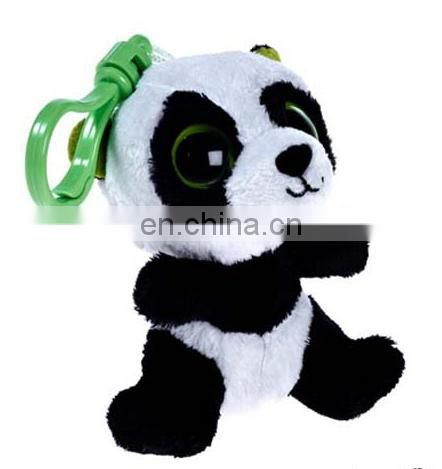 promotion gifts OEM custom made stuffed plush panda keychains with music sound