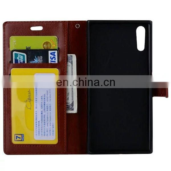Multifunctional for Sony Xperia XZs back cover made in China,phone case leather