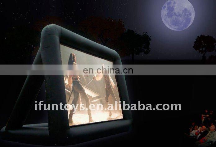 IFUN22 Arch inflatable movie screen/projector for events
