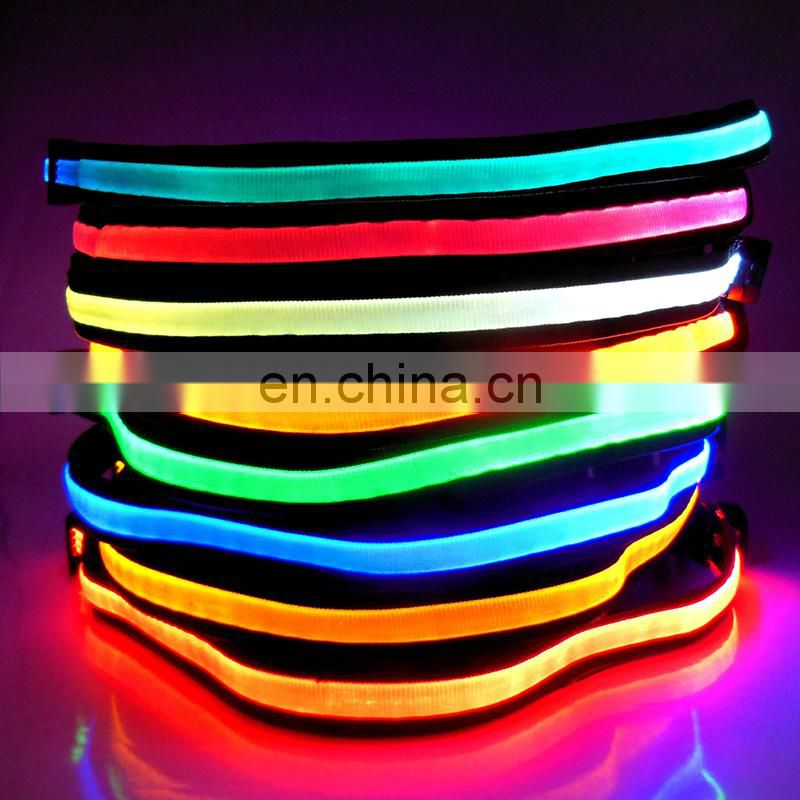 Newest electrical safety belt USB rechargeable flashing belt safety sports belt