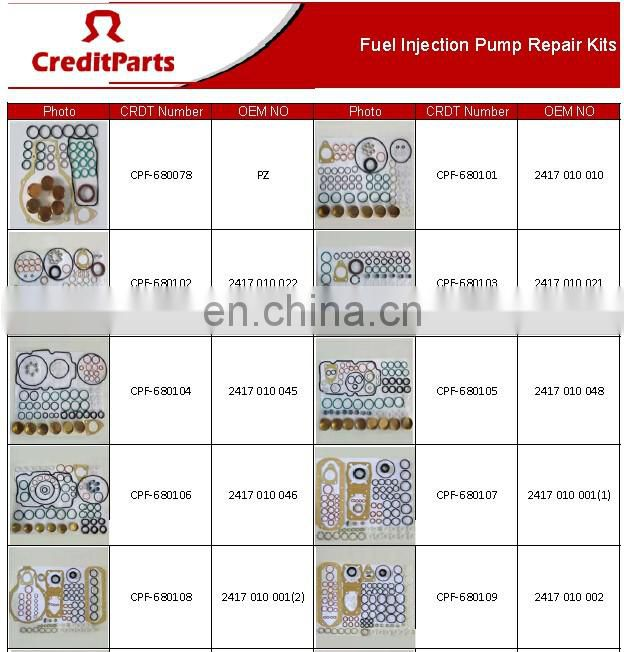 CRDT/CreditParts Auto Parts Diesel Engine Pump Repair Kits 08727