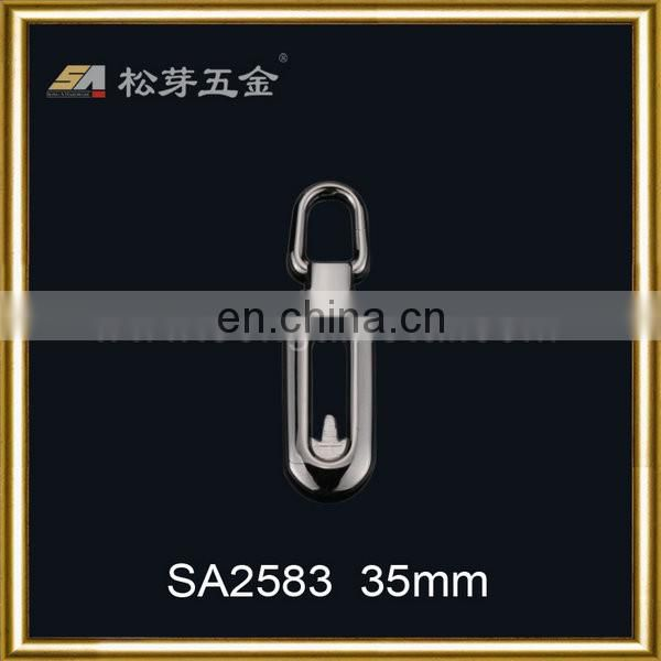New fashion zinc alloy zip puller metal zipper slider