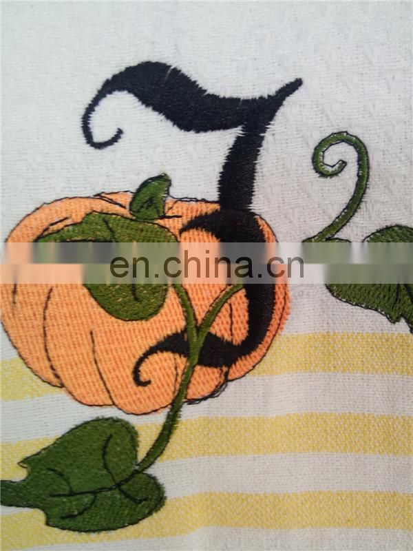 Halloween waffle kitchen/tea towel embroidery designs
