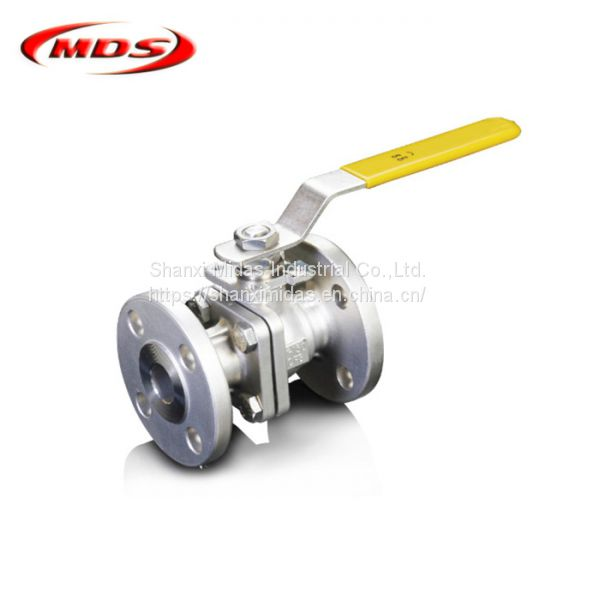 high pressure carbon steel 1 inch one piece flanged end ball valve ansi Image