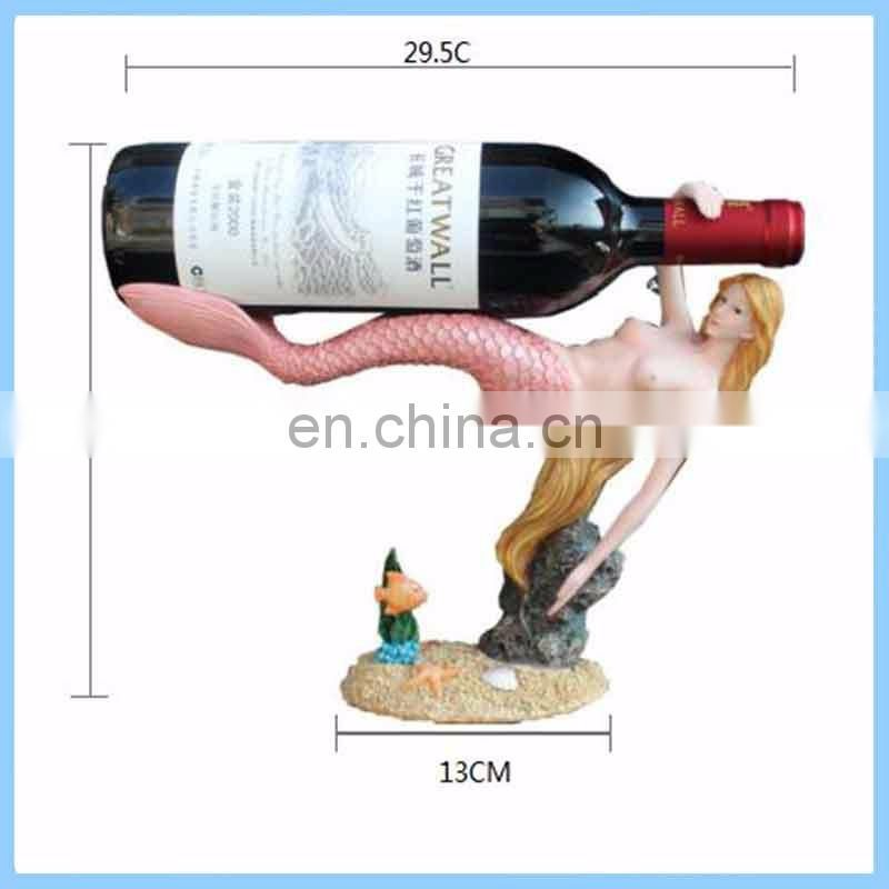 fashionable design high quality red elephant shaped resin wine rack