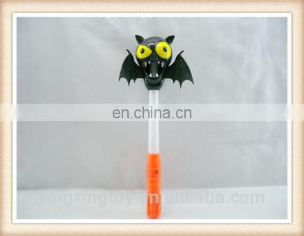 Plastic halloween devil ghost toy flashing stick