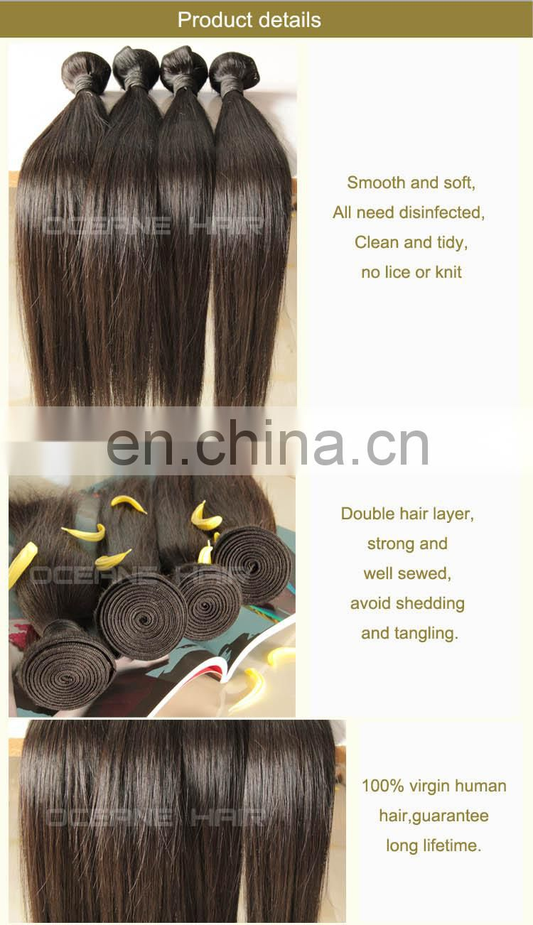 Tangle free unprocessed soft thick cheap virgin brazilian body wave hair