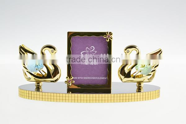 Deluxe 24K Gold Plated Crystal Dressed Elephant for home decoration