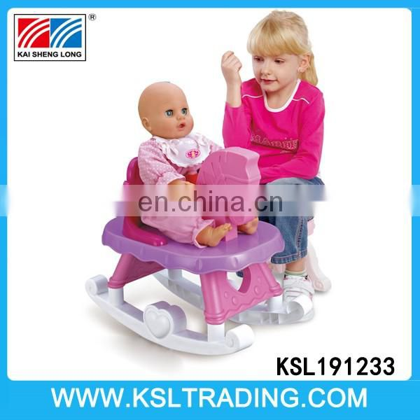 Nice design rocking horse baby dolls set with music