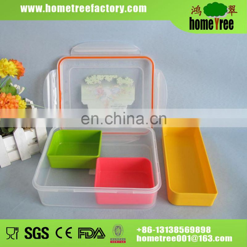 Food Grade 3 Dividers Demountable Food Storage Sushi Packaging Box Keep Freshness  sc 1 st  find quality and cheap products on China.cn & Food Grade 3 Dividers Demountable Food Storage Sushi Packaging Box ...