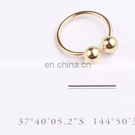 Copper ball simple street ring