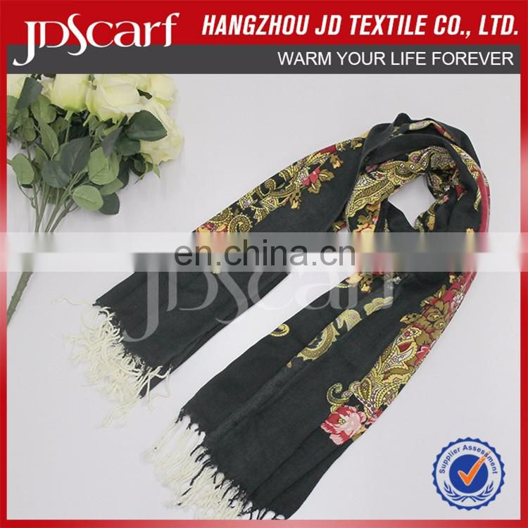 Fashion Wholesale Soft Touch Printing Evening Shawls