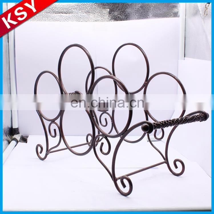 Good Reputation Cheapest Price Single New Bicycle Metal Wine Rack Bottle Shelf