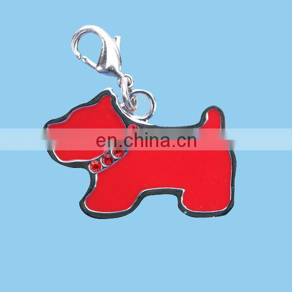 metal pet tag with dog design, dog tag in animal shape
