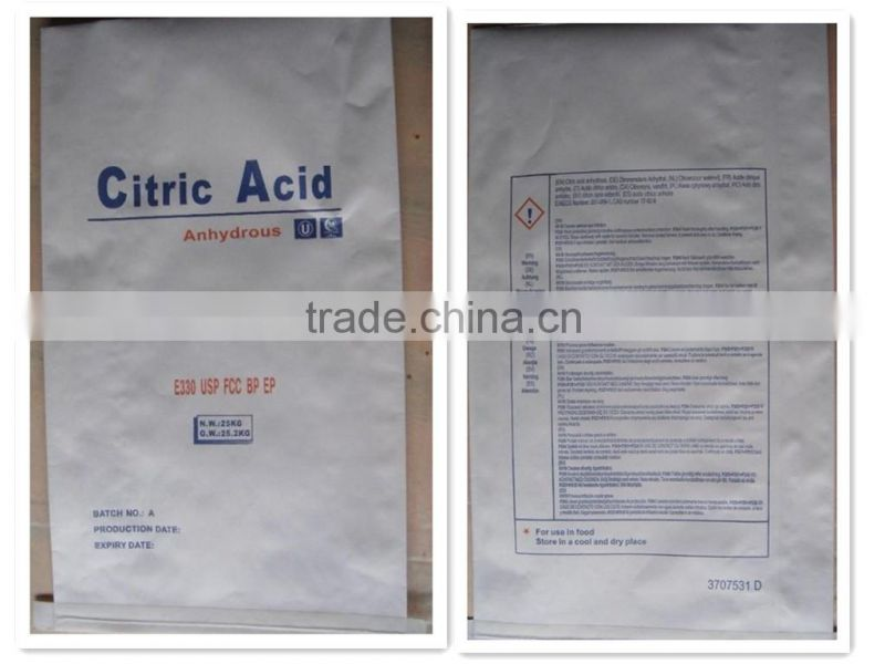 wholesale citric acid anhydrous food grade