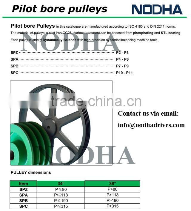 V belt drive pulleys, V belt sheave, DIN standard pulleys