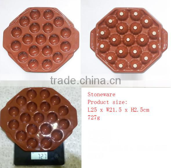 Brown Color Ceramic Cheese Plate