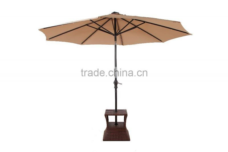 2016 new round umbrella stand rattan table