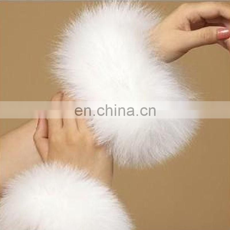 High quality fur cuff real fox fur sleeve for clothes/boots