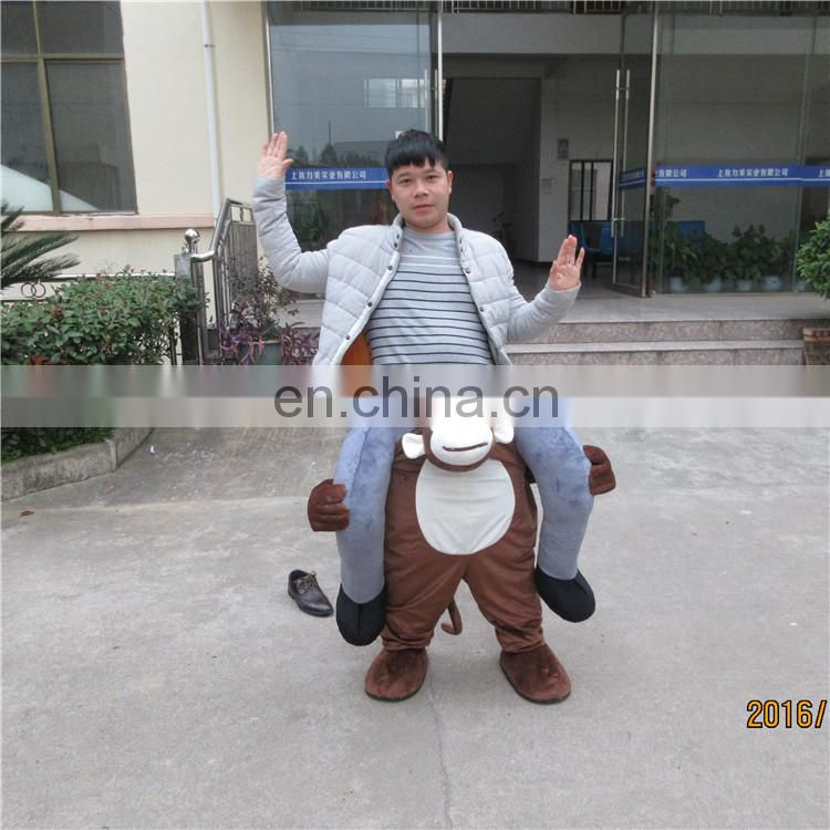 True factory direct sale free shipping ride on monkey mascot costume