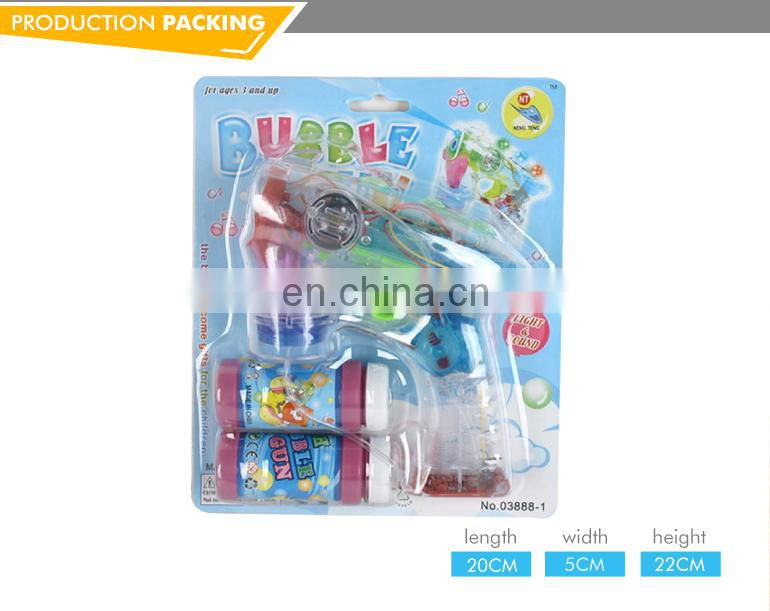 Top selling electric crystal soap bubble water gun with lighting music