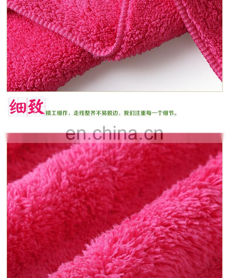 wholesale 80%polyester and 20% polyamide coral velvet face towel